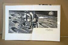 AIRFIX NASA LUNAR MODULE ORIGINAL ROY CROSS ARTWORK