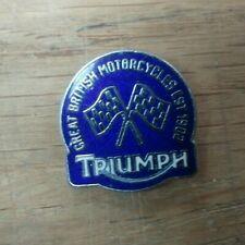 MPBS12199 Triumph Est 1902 Pin Badge