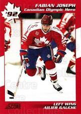1992-93 Score Canadian Olympic Hero #8 Fabian Joseph