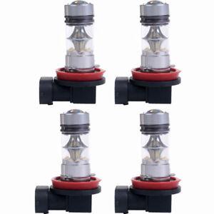 4pcs H11/ H8/H9/ 100W 6000K LED 20 SMD Projector Fog Driving DRL Light Bulbs 12V