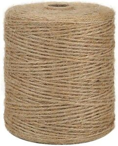 Natural Jute Twine Crafts Jute Rope String Cord For Gardening Packing 984FT