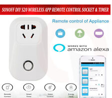 Android IOS APP Control SONOFF S20 WIFI Socket Smart Timer Plug Support Alexa
