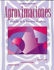 Aproximaciones al estudio de la literatura hispanica by Virgillo, Carmelo, Vald
