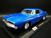 Maisto 1/18 Scale - 1969 Dodge Charger R/T Metallic Blue Diecast Model Car NEW!