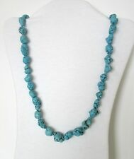 "Turquoise (Imitation) Natural Chip Stone Beads 30"" Strand Necklace.  NWT  FIBT"