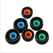 Más Vendidos! 3 Pares Silicona Negro Almohadillas Para Auriculares Reemplazo