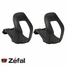 Zefal Bicycle Half Toe-Clips 45 Black Strapless Mountain Bike L/XL