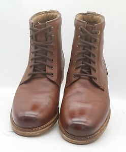Men's TOPMAN Size 7 UK Brown Leather Ankle Boots Laced In E U C