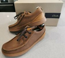 Clarks OAKLAND SEAM UK 7 Eur 41 Tan Brown Leather Shoes Wallabee MOD Casuals Ska