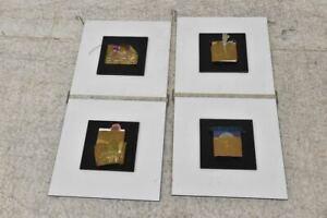 f84x46- Kunstobjekt in 4 Teilen, Material Collage auf Spanplatte
