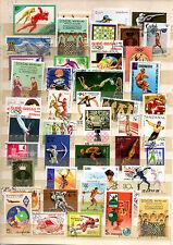 TIMBRES   lot de+ 40 timbres oblitérés thème sports