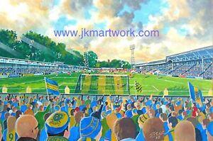 Gay Meadow Stadium Fine Art A3 Print - Shrewsbury Town Football Club
