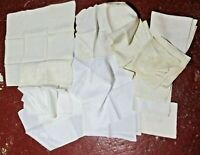 Vintage Linen Cloth Napkin Lot