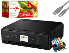 Canon PIXMA TS5050 Multifunktionsgerät Drucker Scanner Kopierer schw. +5 Tinten