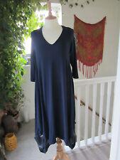 Join Clothes Scoop Neck Jersey Dress Detail & Dip Back Hem navy Size S