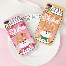 Cute Shiba Couple Soft Phone Case Skin For iPhone X 7 8 Plus & iPhone 6 6S Plus