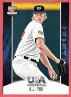 2015 A.J. Puk 20 Card Lot Panini USA Baseball Rookie - Oakland Athletics