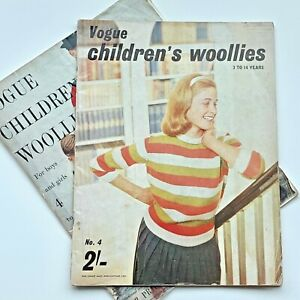 2 x 50s vintage VOGUE knitting book : children's traditional knitwear hand knits
