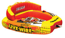 NEW AIRHEAD AHLW-2 Live Wire 2 Inflatable 1-2 Rider Boat Towable Lake Water Tube