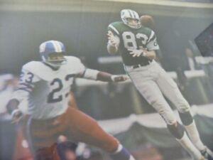 George Sauer #83 NY Jets 24x36 Walter Yost Photographer 1969 Renselaar Corp