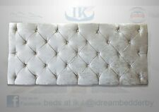 "Crushed Velvet Chesterfield 20"", 24"" & 30"" cabecero single, doble y King Size"