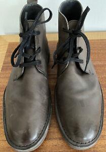 Frye Ashland Chukka Men's Slate Buffalo Leather Lace Up Ankle Boots Size 8