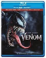 Venom (2018) (Blu-ray 3D + Blu-ray) (Region Free) (Three Disc) (NEW)