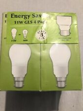 energy saving light bulbs bayonet 11w Gls 4 Pack