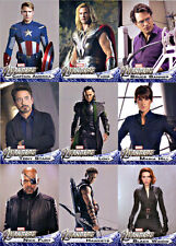AVENGERS ASSEMBLE MOVIE SET OF 176 CARDS.