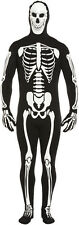 ADULT BODYSUIT SKELETON BLACK HALLOWEEN GID FANCY DRESS COSTUME OUTFIT MAN SCARY