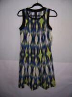Suite 7 Women's Blue Lime White Black Tank Dress Size 10 NWT!