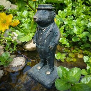 Ratty Wind in the Willows Statue Bronze Finish  Indoor + Garden Decor Ornament