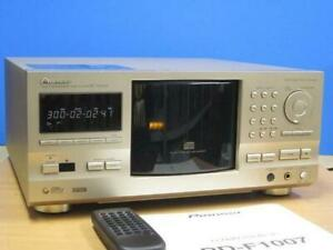 PIONEER PD-F1007 CD Changer w/ Remote Power Supply Voltage 100V Used GC Japan