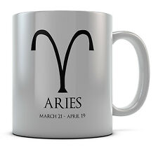 Aries Zodiac Sign Horoscope Mug Cup Gift Idea Present Coffee Tea