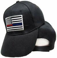 JTRVW Unisex Adult Thin Red Line Flag Washed Denim Retro Cowboy Style Baseball Hat Sun Hat Adjustable Baseball Cowboy Hats