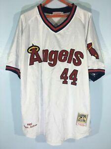 Rare Vintage Reggie Jackson #44 California Angels Baseball Shirt Size 4xl 54