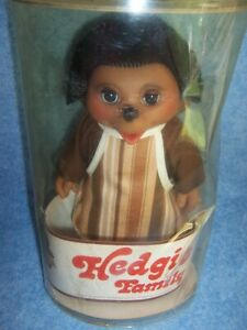 "Vintage Hedgie Family- 8 ½"" Peter, Troll, Made in Denmark"