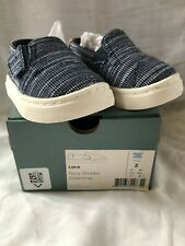 Nwt Toms Luca Canvas & Suede Shoes - Blue w/White Soles - Tiny 2