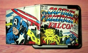 MENS MARVEL CAPTAIN AMERICA FALCON BIFOLD SLIMFOLD WALLET WITH TIN GIFT BOX