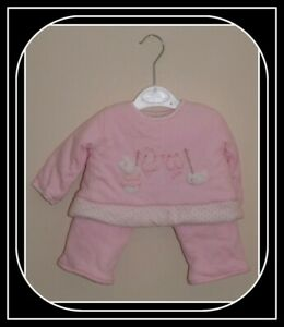 Newborn, babies pink two piece outfit age 3 months