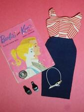 Vintage 1959 BARBIE Doll CRUISE STRIPES Outfit - NEAR MINT & COMPLETE