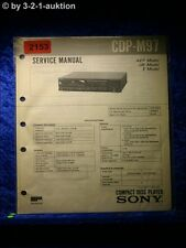 Sony Service Manual CDP M97 CD Player (#2153)