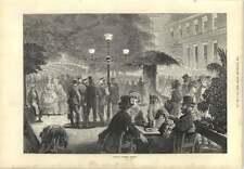 1873 Kroll's Garden In Berlin Evening Stroll Relaxing Tables