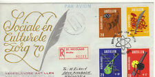 NETHERLANDS ANTILLES REG AIRMAIL FDC 1970 CULTURAL & SOCIAL RELIEF FUND, MEDIA