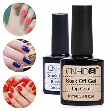 2PCS Nail Art Gel Soak Off UV Base and Top Coat Gel Polish Primer 10ml