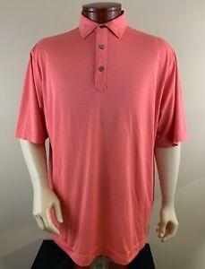 FOOTJOY Men's Striped Performance Golf Polo Shirt Size XL