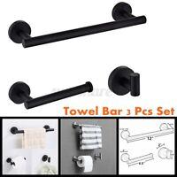 3pcs Towel Rail Rack Bar Stainless Steel Shelf Wall Paper Holder Bathroom  ❤