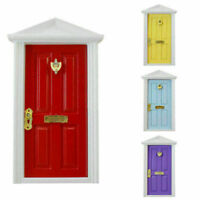 Miniature Wood Fairy Door Garden Assembled Furniture House Dolls For 1:12 N S8A4