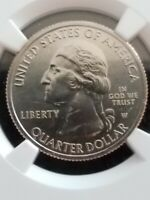 2019 W Quarter Lowell 25C Mint Error Huge Obverse Struck Thru, Angel Wing