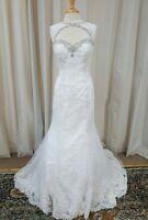 NEW Angelina Faccenda Couture Mori Lee Bridal Gown Wedding Dress 1285 White Sz14